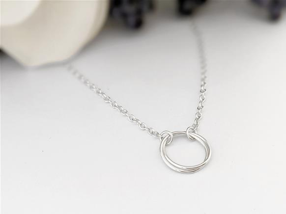 Large Infinity knot Pendant in Sterling Silver